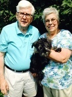 Diana Beam (the founder of KITS), her husband Ron Beam and the newest addition, terrier Lulu.