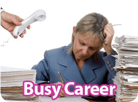 Keeping in touch solutions busy career
