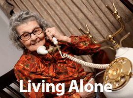 Keeping in touch solutions living alone